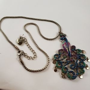 Betsey johnson authentic peacock necklace